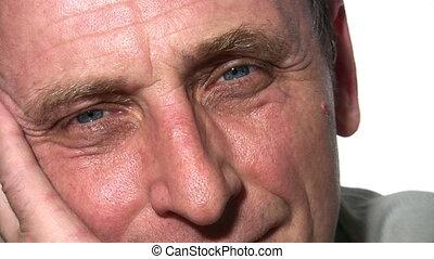 idősebb ember, arc