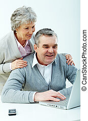 idősebb ember, használók