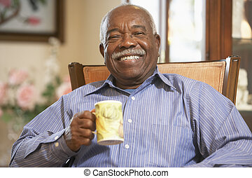 idősebb ember, ital, ivás, csípős, ember