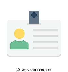 ID CARD FLAT ICON