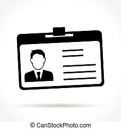 id card icon - Illustration of id card icon on white...