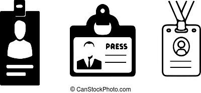 id card icon on white background