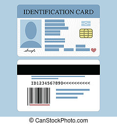 Id Card - Illustration of front and back id card
