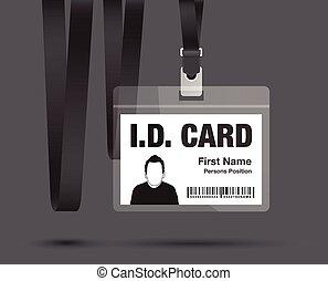 id card man in black