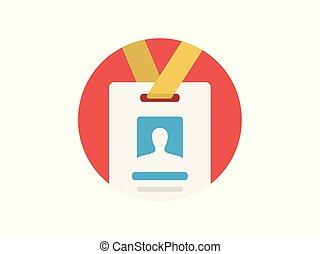 Id card vector icon sign symbol