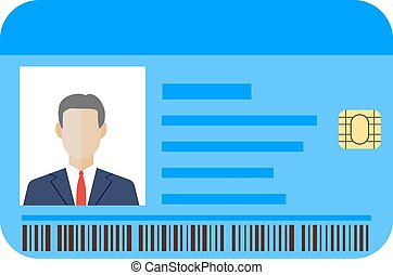 Id cards template with man