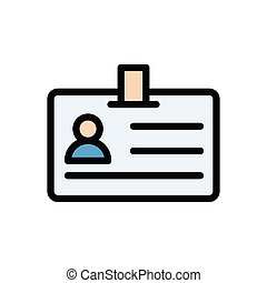 id flat color icon