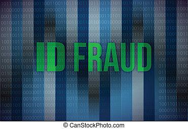 ID fraud binary background