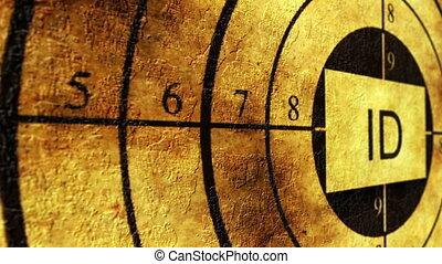 ID grunge target concept