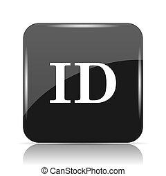ID icon. Internet button on white background.