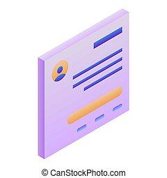 Id man card icon, isometric style