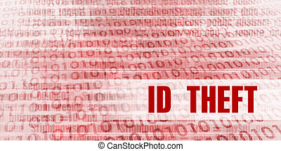 Id theft Alert on a Red Binary Danger Background