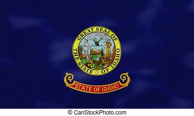 Idaho dense flag fabric wavers, background loop - Idaho US ...