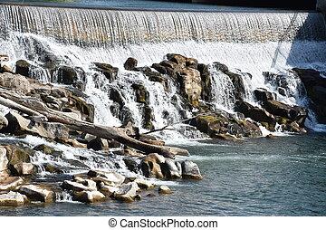 Idaho Falls in Idaho, USA