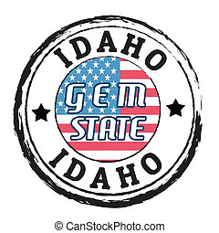 Idaho, Gem state stamp