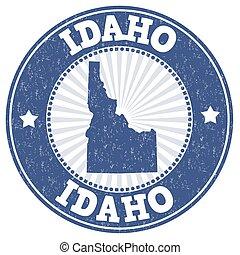 Idaho grunge stamp