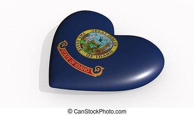 Idaho heart beats and casts a shadow, loop.