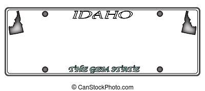Idaho License Plate - An Idaho state license plate design...