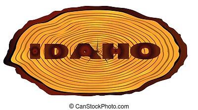Idaho Log Sign