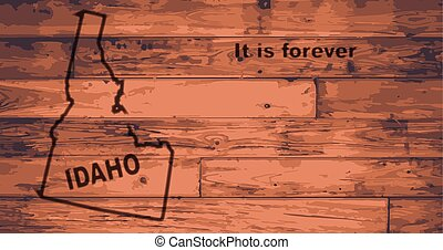 Idaho Map Brand