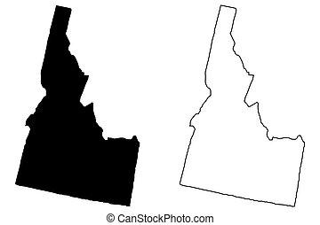 Idaho map vector
