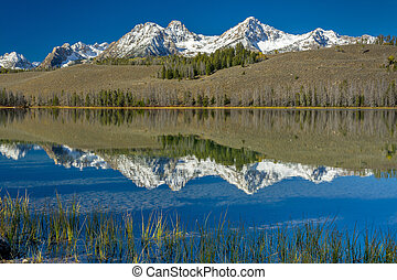 Idaho mountain lake with reflections