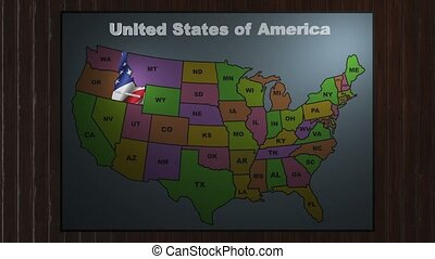Idaho pull out from USA states abbreviations map