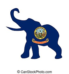 Idaho Republican Elephant Flag