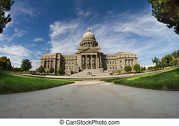 Idaho state capital - Low view of the idaho state capital...