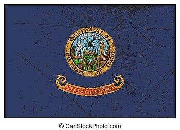 Idaho State Flag Grunged