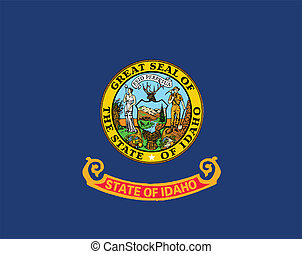 Idaho State Flag - The state flag of the USA state of Idaho