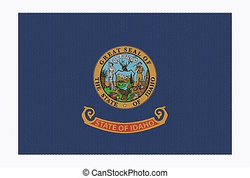 Idaho State Flag White Dots