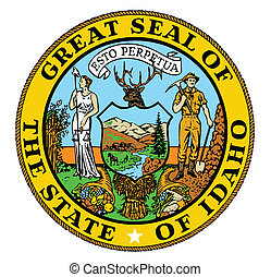 Idaho State Seal - The state seal of the USA state of Idaho...