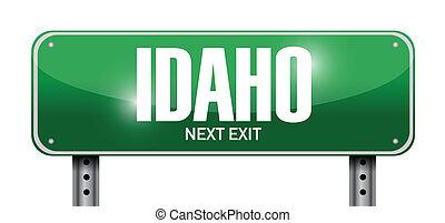 idaho street sign illustration design over a white...