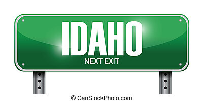 idaho street sign illustration design over a white ...