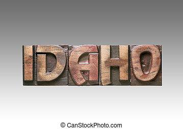 Idaho vintage type