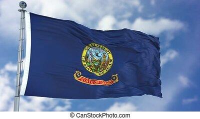 Idaho Waving Flag