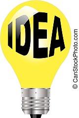 ide, lys, bulb.