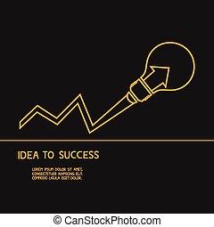 idea., 做, 概念, 想法, 成功