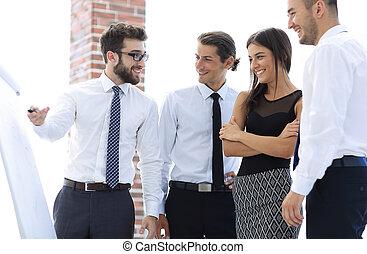 idea., 新しい, 事業を論じる, チーム