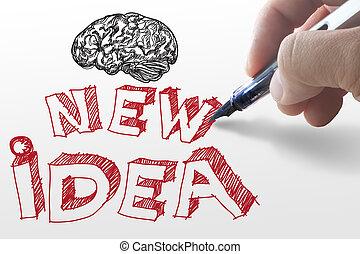 """idea"""", 紙, """"new, 圖畫, 手"""