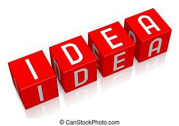 Idea - 3D cube word