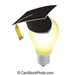 idea-3d, luz, concepto, bombilla