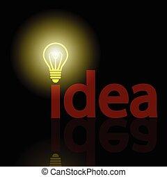 Idea - An illustration of bulb as a symbol of ideas.