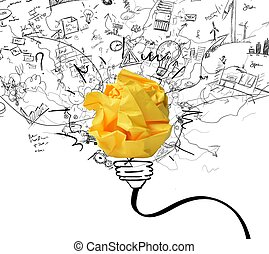 Idea and innovation concept - Concept of new idea and...