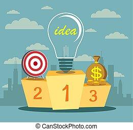 idea., assistente, affari, potere