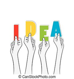 idea banner concept design
