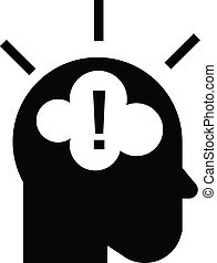 Idea brainstorming icon, simple style