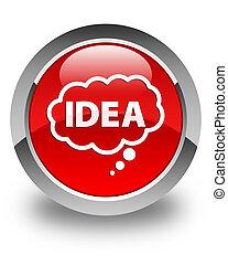 Idea bubble icon glossy red round button