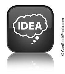 Idea bubble icon special black square button